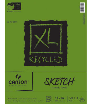 "Canson Recycled Sketch Paper Pad 11""X14"""
