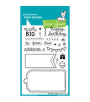"Lawn Fawn Clear Stamps 4""X6""-Birthday Tags, , hi-res"