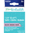 Brother™ P-touch Embellish Patterned Tape-Black Print on Diagonal