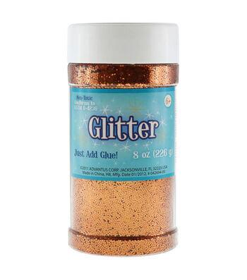 Metallic Glitter 8 Ounces-Orange