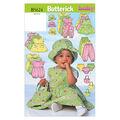 Butterick Pattern B5624 Infants\u0027 Casual Outfits-Size NB-S-M