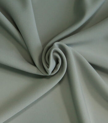 "Silky Solid Stretch Crepe Fabric 58""-Light Gray"