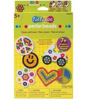 Perler Hangable Gift Box Kit-Peace And Love, , hi-res