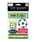 Soft Spoken Themed Embellishments-Soccer