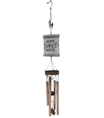 Wild Blooms Bird Wind Chime-Home Sweet Home