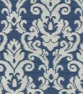 Waverly Upholstery Fabric 57\u0022-Kenwood Damask/Sapphire