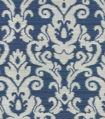 "Waverly Upholstery Fabric 57""-Kenwood Damask/Sapphire"