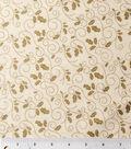 Maker\u0027s Holiday Cotton Fabric 43\u0022-Holly Scroll