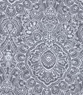 Snuggle Flannel Fabric 42\u0022-Grey Ink Stamp Print