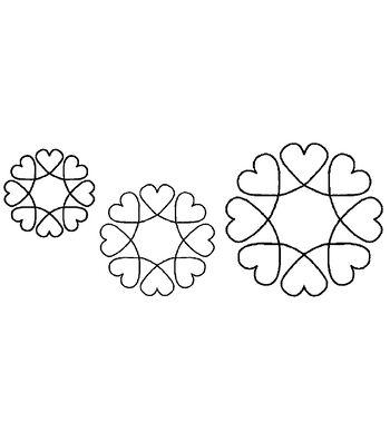 """Quilt Stencils-4"""", 5""""&7"""" Blocks 8"""" X 18"""""""