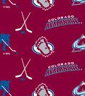 Colorado Avalanche Fleece Fabric 60\u0022-Tossed