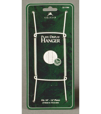 Tripar 10'' Plate Display Hanger-White & Green