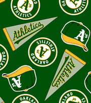 "Oakland Athletics Fleece Fabric 58""-Tossed, , hi-res"