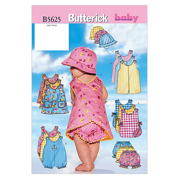 Butterick Pattern B5625 Infants' Casual Outfits-Size NB-S-M