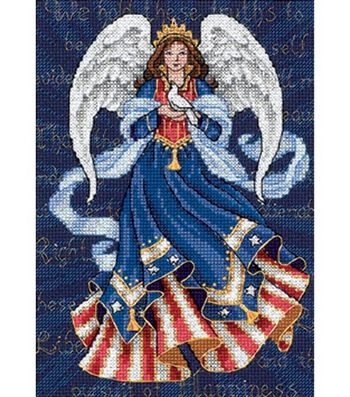 Dimensions Gold Counted Cross Stitch Kit Patriotic Angel Petite