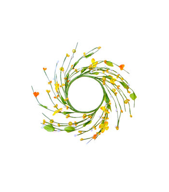 Blooming Spring Berry & Flower Mini Wreath-Yellow