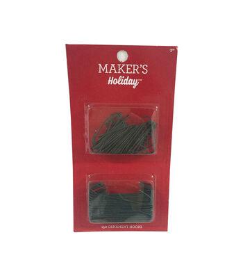Maker's Holiday Christmas 150 Pack Ornament Hooks-Green