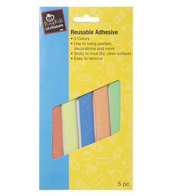 Busy Kids Learning Reusable Adhesive-Poster Adhesive