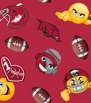 "University of Arkansas Razorbacks Fleece Fabric 60""-Emoji, , hi-res"
