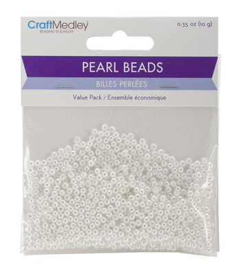 Craft Medley Pearl Beads Value Pack 3mm