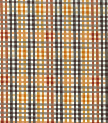 "Harvest Cotton Fabric 43""-Harvest Plaid Checkers"