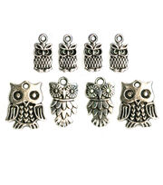 Blue Moon Beads Charm Owl Assorted Pack Silver, , hi-res