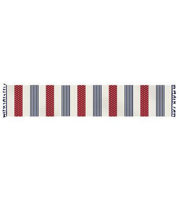Americana Patriotic 14''x72'' Indoor Table Runner-Stars & Stripes