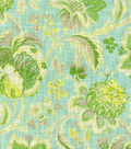 Waverly Print Fabric 54\u0022-Arbor Imagery/Mineral
