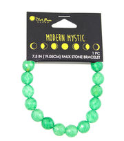 Blue Moon Beads® Modern Mystic Faux Green Jade Stone Bracelet, , hi-res
