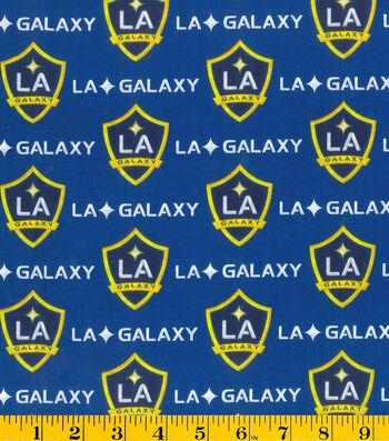 "LA Galaxy Cotton Fabric 58""-Logo"