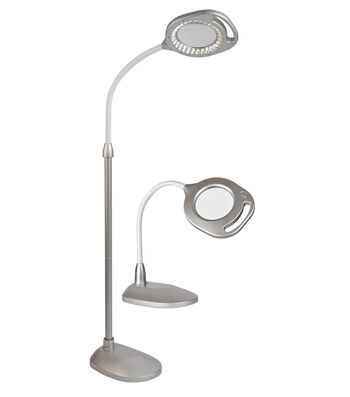 OttLite 2-in-1 LED Magnifier Floor And Table Lamp