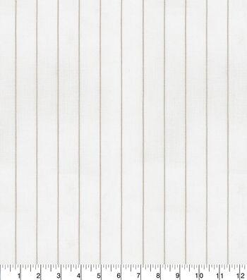 P/Kaufmann Drapery Fabric 56''-Linen Linet Stripe