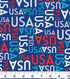 Patriotic Cotton Fabric 43\u0027\u0027-USA