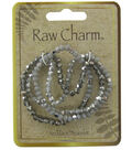 Naturals Raw Charm Gray Silver Necklace