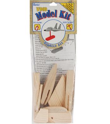 Darice Wood Model Kit-Fighter Jet