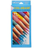 Prismacolor Col-Erase Erasable Colored Pencils 24 Pack-Assorted, , hi-res