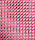 1930\u0027s Cotton Fabric 43\u0027\u0027-Square Connections on Pink