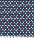 Patriotic Cotton Fabric 44\u0027\u0027-Bold Stars