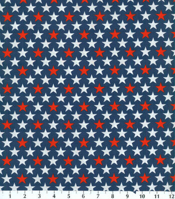 Patriotic Cotton Fabric 44''-Bold Stars