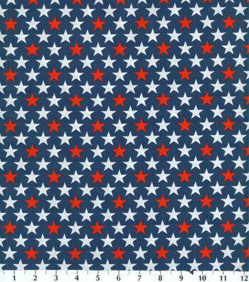 "Patriotic Cotton Fabric 44""-Bold Stars"