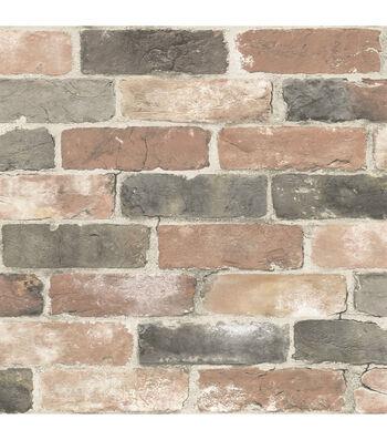 WallPops® NuWallpaper™ Peel and Stick Wallpaper-Newport Reclaimed Brick