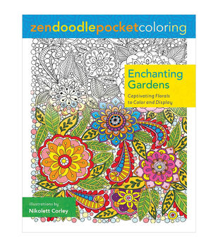 Zendoodle Enchanting Gardens Coloring Book