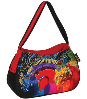 "Laurel Burch Medium Hobo 15""x4.5""x9""-Wild Horses of Fire"