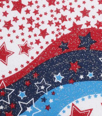 "Patriotic Cotton Fabric 60""-Glitter Stars"