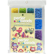Perler Fused Bead Tray 4,000/Pkg w/Idea Book-Tray of Beads, , hi-res