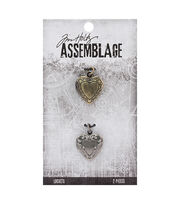 Tim Holtz® Assemblage 2 Pack 0.75'' Ornate Heart Lockets, , hi-res
