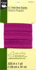 Dritz 5/8\u0022 Fold Over Elastic Berry 1Yd
