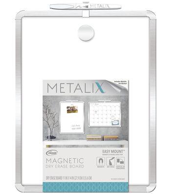 The Board Dudes™ Metalix Framed 11''x14'' Dry Erase Calendar Board