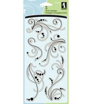 Inkadinkado Clear Stamps-Dot Flourishes, , hi-res