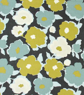 "Robert Allen @ Home Print Fabric 55""-Top Floral Charcoal"